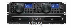Gemini Cdx-2250i Pro Dj Dual Two Deck Rack Mount Cd/mp3 Media Player+2-ch Mixer