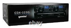 Gemini Cdx-2250i Pro Dj Dual Two Deck Rack Mount Cd/mp3 Media Player Avec Usb