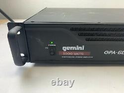 Gemini Pro Gpa-6000 5000w 2 Channel Power Dj Amplificateur 2u Rack Mount Amp Stéréo