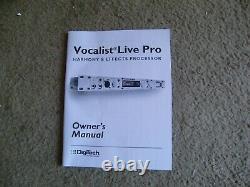 Le Digitech Vocalist Live Pro Processeur Rackable Avec Les Deux MIDI Et Le Niveau De La Ligne