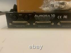 Lynx Aurora 16 Convertisseur Mastering Ad/da 16 Canaux Avec Lt-hd Pro Tools Avid