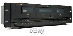 Marantz Pmd-300cp En Rack Professionnel Double Platine À Cassette Usb Lecteur / Enregistreur