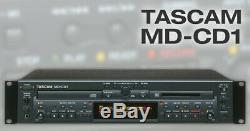 Md-cd1 Tascam Rackmount Recorder Mini-disc Professionnel Et Lecteur CD
