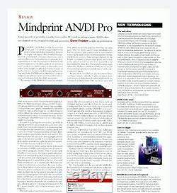 Mindprint An / DI Pro Haut Rack 19 '' Convertisseur Audio Numérique