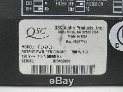 Montage En Rack Qsc Plx 2402 Amplificateur De Puissance Professionnel