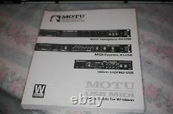 Motu Express Xt Usb 8 En 8 Interface MIDI Professionnelle Usb Avec Le Guide De L'utilisateur