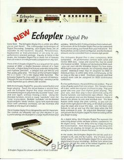 Oberheim Echoplex Digital Pro Rackmount Looper Avec Pédale Foot Controller, Exlnt