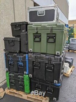 Palette Lot De 9 Pelican Hardigg Cases Expédition Transport Pro Audio Montage Rack