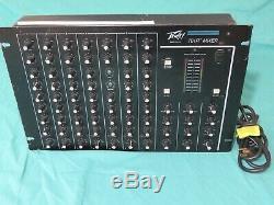 Peavey 701r Rack Mount Mixer Avec 3 Bandes Égaliseur Vintage Reverb Pro Audio