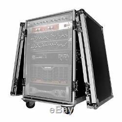 Pro-x T-16 16rss Espace Vertical Amp Rack Dj Flight Case Avec Roues