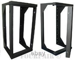 Professional 20u Wall Mount Swing Out Network It Data Audio Rack 18 Profondeur 3ft
