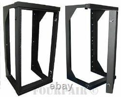 Professional 20u Wall Mount Swing Out Network It Data Audio Rack 25 Profondeur 3ft