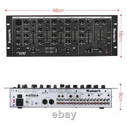 Professionnelle 5 Canaux Dj Rack Mount Mixer Console De Mixage Stéréo B3q9