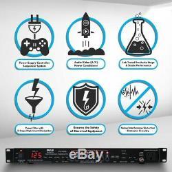 Pyle Ps1000 8 Prise De Courant Séquenceur Conditioner, 2200w, Montage En Rack, Pro Audio