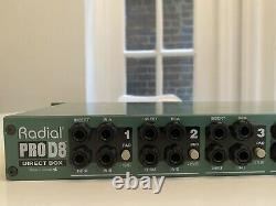 Radial Engineering Prod8 Rackmount À Huit Canaux Passif Direct DI Box Pro D8
