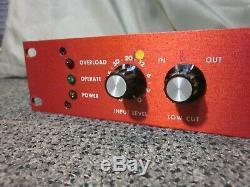 Rare 2 Canaux Fsi Montage En Rack Unité Professional Spring Reverb W Accutronics Réservoir