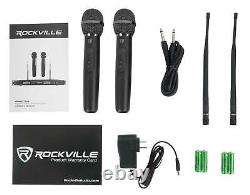 Rockville Rwm23ua Uhf Wireless Pro Rack Mount Double Microphone System/20 Channel