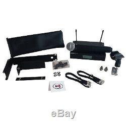 Shure Blx24r / Sm58 Wireless Dj Handheld Vocal Microphone System + Rackmount Kit