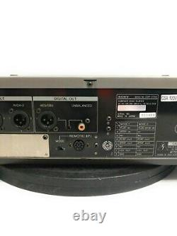 Sony Cdp-2700 Professional Compact Disc Player Analog Digital Out Avec Rackmount