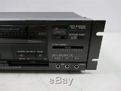 Tascam 112r Professional Cassette Lecteur De Cassette De Montage En Rack Avec Contrôle Pitch Black