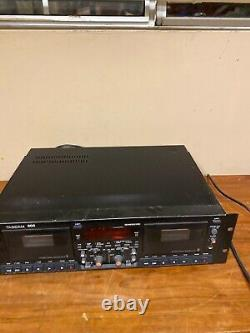 Tascam 302 Dual Cassette Deck Professional Enregistreur Enregistreur