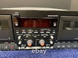 Tascam 302mkii Dual Cassette Enregistreur De Lecteur Rackmount Pro Équipement Audio
