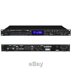 Tascam Cd-400u Pro Rackmount CD / Sd / Usb / Bluetooth / Am-fm Lecteur / Enregistreur Numérique