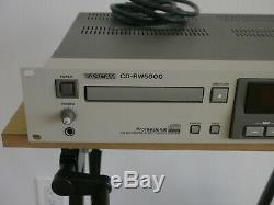 Tascam Cd-rw5000 Réinscriptible Professionnel De Montage En Rack Enregistreur De CD