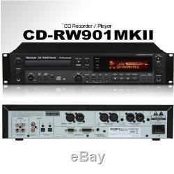 Tascam Cd-rw901mkii Pro Design Industriel Rackmount Lecteur / Enregistreur / À Distance