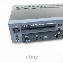 Tascam Cd-rw901sl Rack Mount Professional CD Digital Multitrack Enregistreur Testé