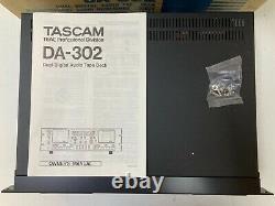 Tascam Da-302 Pro Audio Rack Mount Dual Dat Digital Audio Tape Deck Enregistreur