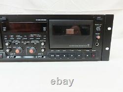 Tascam Modèle 302 Rack Mount Dual Cassette Professional Double Tape Deck