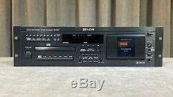 Vintage Denon Dn-t620 De Montage En Rack Professionnel Pont CD Et Cassette Combo