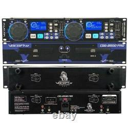 Vocopro Cdg-8900 Pro Double Plateau De Montage En Rack Kj / Dj Lecteurs CD