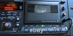 Vtg Tascam 302 Double Cassette Lecteur De Cassette Enregistreur De Montage En Rack Pro Équipement Audio