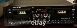 Vtg Tascam 302 Professional Dual Cassette Deck Tape Recorder Rack Mount Comme Est